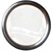 Argola roliça (Em aço inox),Nº 24 com 6,5 cm interno.